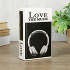 """Сейф-книга дерево кожзам """"Я люблю музыку"""" 17х11х5 см"""