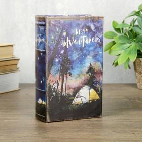 """Сейф-книга дерево кожзам """"Ночное небо"""" 17х11х5 см"""