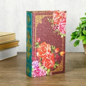 """Сейф-книга дерево шёлк """"Ретро. Цветы. Бабочки"""" 21х13х5 см"""