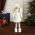 """Кукла интерьерная """"Ангелочек Марфуша в белом платье с помпонами"""" 46х10х13 см"""
