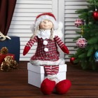 """Кукла интерьерная """"Ангелочек Марфуша в красном платье с помпонами"""" 63х12х17 см"""