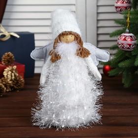 "Кукла интерьерная ""Ангелочек в белой шубке-травке"" 43х12х12 см"