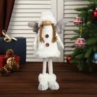 """Кукла интерьерная """"Ангелочек в белом свитере и колпаке"""" 45х8х15 см"""