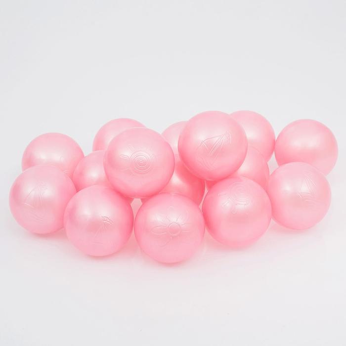Набор шаров для сухого бассейна 500 шт, цвет: розовый перламутр