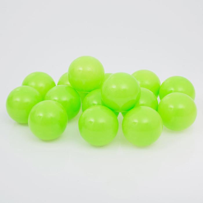 Набор шаров для сухого бассейна 500 шт, цвет: салатовый