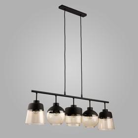 Светильник Amber 5x60Вт E27 чёрный