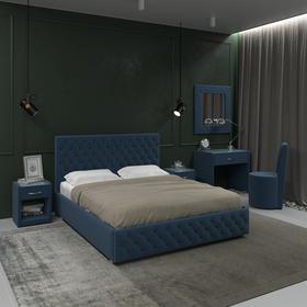 Кровать «Купол тысячелетия» без ПМ, 180 × 200 см, ортопед. основание, цвет Star Velvet 36