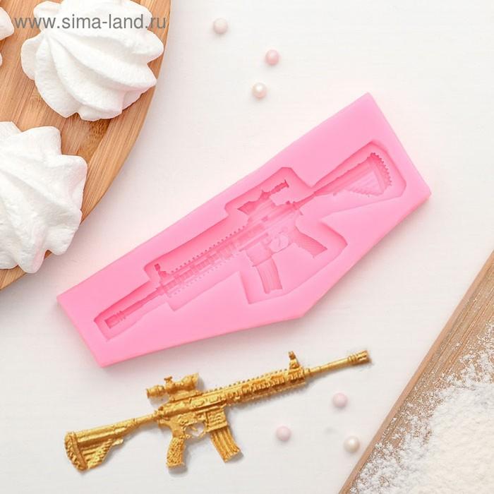 Молд силиконовый «Пистолет-пулемёт», 13,2×5,3 см, цвет МИКС - фото 308042029