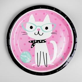 Тарелка бумажная «Кошечка», набор 10 шт.
