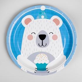 Тарелка бумажная «Мишка с кексом», набор 10 шт.