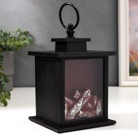 """Ночник настольный """"Камин"""" черный12х12х13,5 см."""