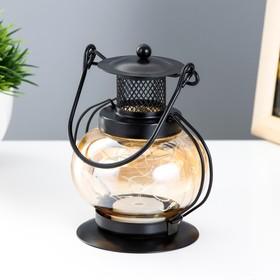 """Ночник настольный """"Фонарь"""" LED черный 11,5х11,5х20 см."""