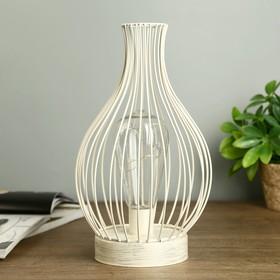 """Ночник """"Белый фонарь"""" LED белый 15х15х16 см."""