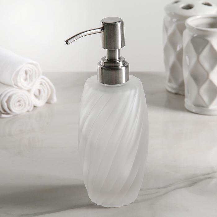 """Дозатор для жидкого мыла """"Грация"""", матовое стекло - фото 308031990"""