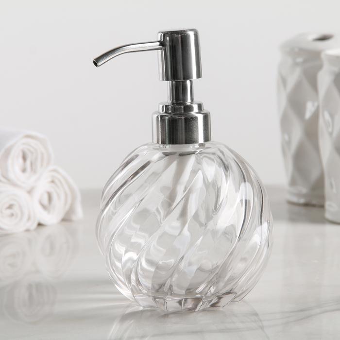 """Дозатор для жидкого мыла """"Спираль"""", стекло - фото 308031664"""