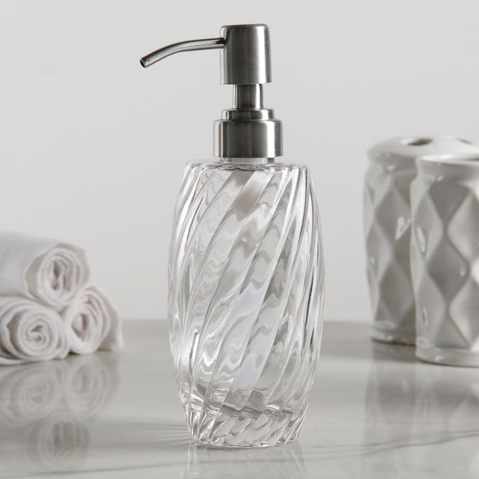 Дозатор для жидкого мыла «Грация», 350 мл, стекло - фото 308031666