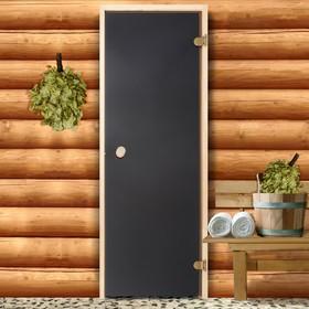 Дверь для бани и сауны стеклянная, 190×70см, 6мм, бронза