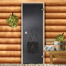 """Дверь для бани и сауны стеклянная """"Банька, круглая"""", 190×70см, 6мм"""
