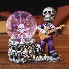 """Плазменный шар полистоун """"Гитарист"""" 10х18х19 см"""