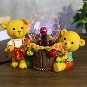 """Плазменный шар """"Мишки"""" 24х12х17,5 см."""