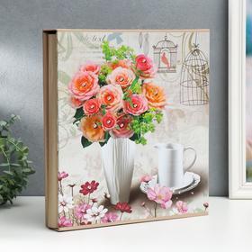 """Фотоальбом на 500 фото 10х15 см """"Романтичное утро"""" в коробке МИКС 33,5х30х5,5 см"""
