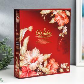 """Фотоальбом на 500 фото 10х15 см """"Розы/Лилии"""" в коробке МИКС 33,5х30х5,5 см"""