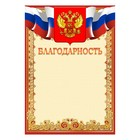 """Thanks to """"Universal"""" symbols of the Russian Federation, red frame"""