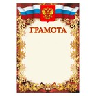 """Diploma """"Universal"""" symbols of the Russian Federation, patterns"""