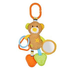 Игрушка - подвеска «Мишка Вилли», с зеркальцем, прорезывателями и погремушками