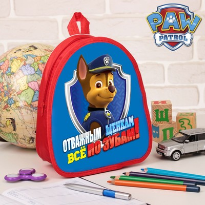 """Backpack, kids Paw Patrol """"Brave puppies"""" R-R. 21*25"""