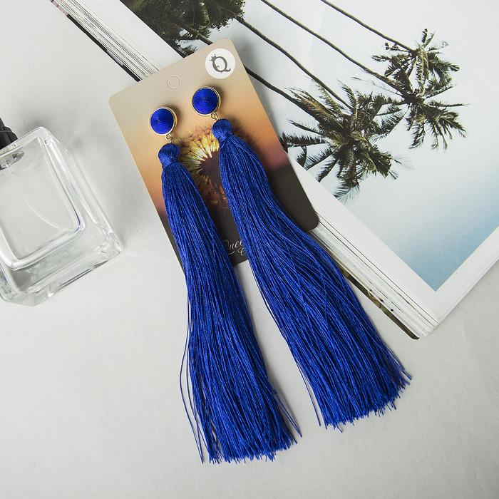 синие серьги кисти с чем носить фото воздухе еще