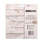"""Набор бумаги для скрапбукинга двухсторонней """"Prima Marketing"""" Pretty Pale, 30 листов, 15х15   447051"""