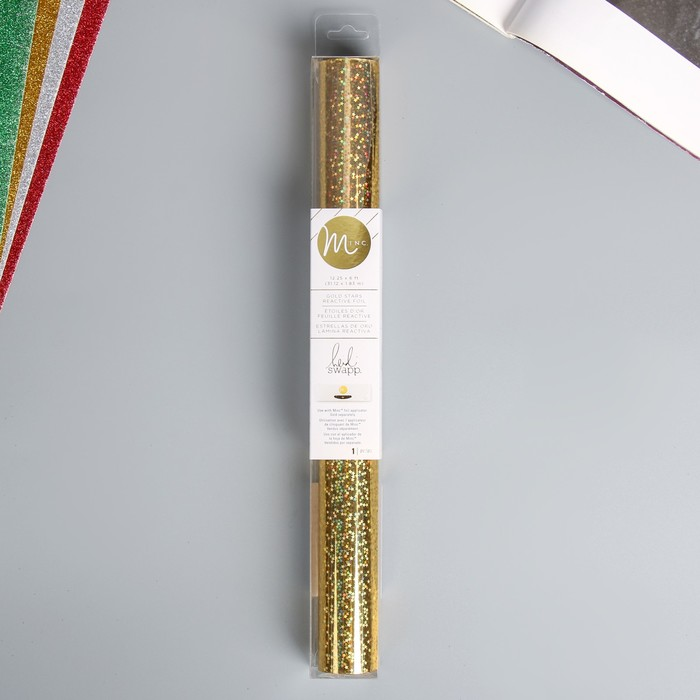 """Тонерочувствительная фольга для MINC """"Heidi Swapp""""   Gold Stars - 31.12х183 см см"""