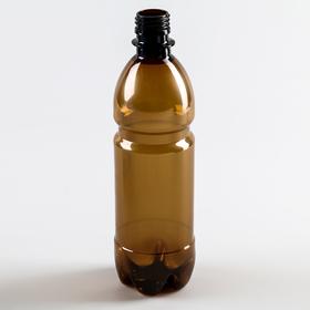 Bottle 0.5 l, PET, brown ,without lid