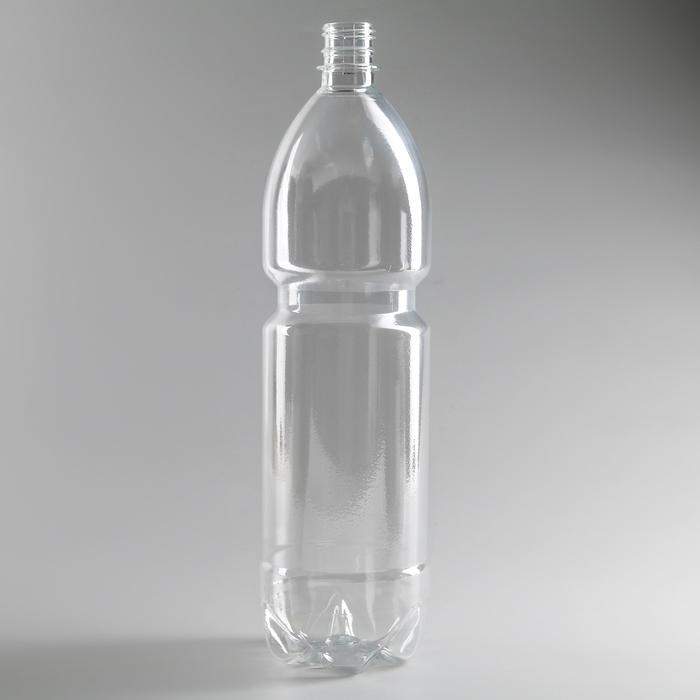 Бутылка 1,5 л, ПЭТ, прозрачная, без крышки