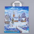 """Пакет """"Снежное царство"""", полиэтиленовый с петлевой ручкой, 40х42 см, 45 мкм"""