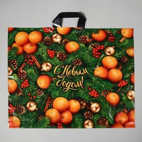 """Пакет """"Оранжевое настроение"""", полиэтиленовый с петлевой ручкой, 60х50 см, 70 мкм"""