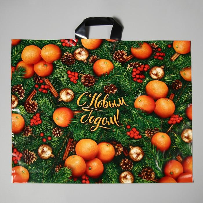"""Пакет """"Оранжевое настроение"""", полиэтиленовый с петлевой ручкой, 60 х 50 см, 70 мкм - фото 308292147"""