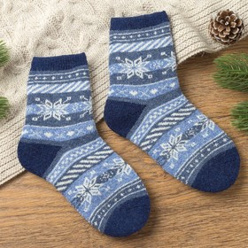 "Socks baby cotton MINAKU ""Snowflake"", size 16, colour blue"