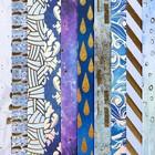 Набор бумаги для скрапбукинга «Оттенки синего», 10 листов, 15.5 × 15.5 см