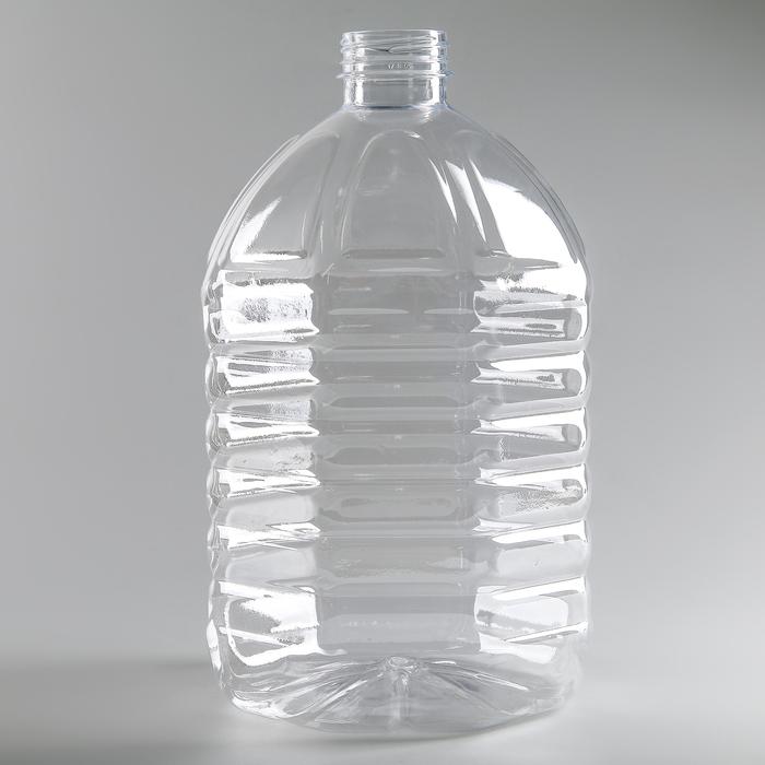 Бутылка 5 л, ПЭТ, прозрачная, без крышки
