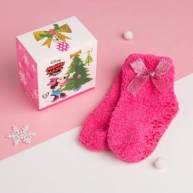 """Носки махровые в подарочной коробке """"Новогодние"""", р-р 12-22 см, Минни Маус"""