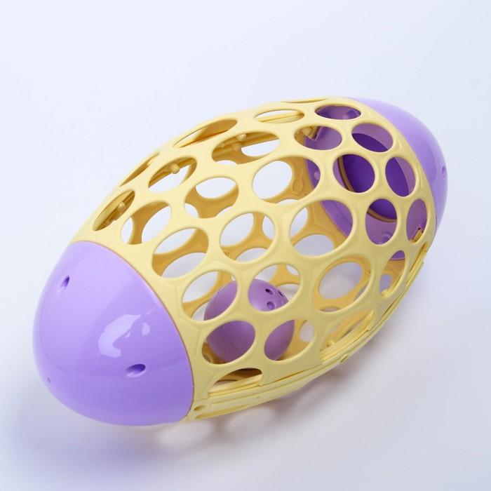 Развивающая игрушка - погремушка «Мяч овал», эластичный - фото 105528197