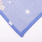 Пелёнка набивная, 110х80 см, цвет голубой МИКС - фото 105553312