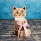 """Кашпо деревянное уникальное """"Котёнок"""", натуральный - фото 308252691"""