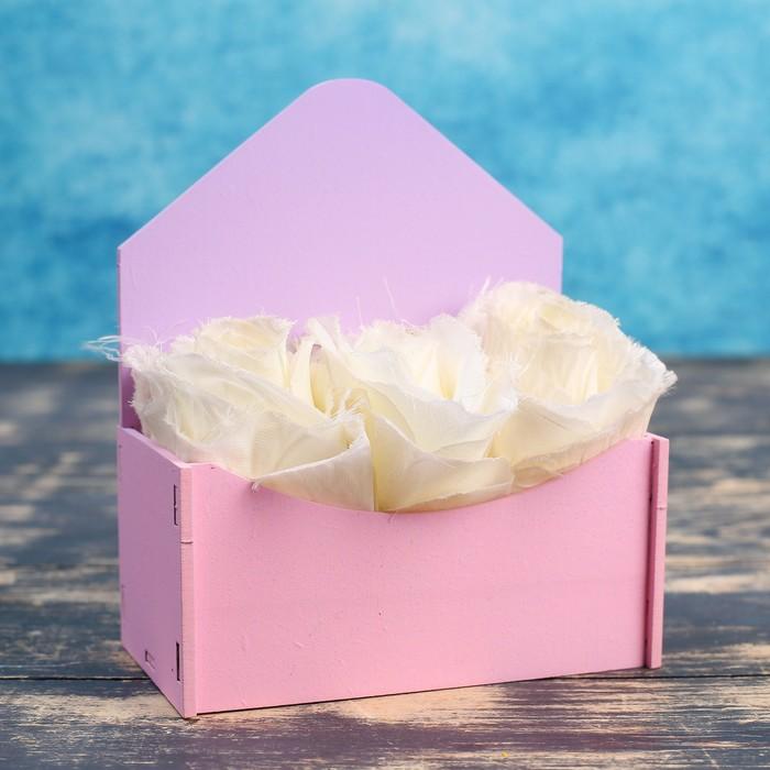 """Кашпо деревянное Конверт Рио """"Классик"""", градиент розовый сиреневый - фото 269420252"""