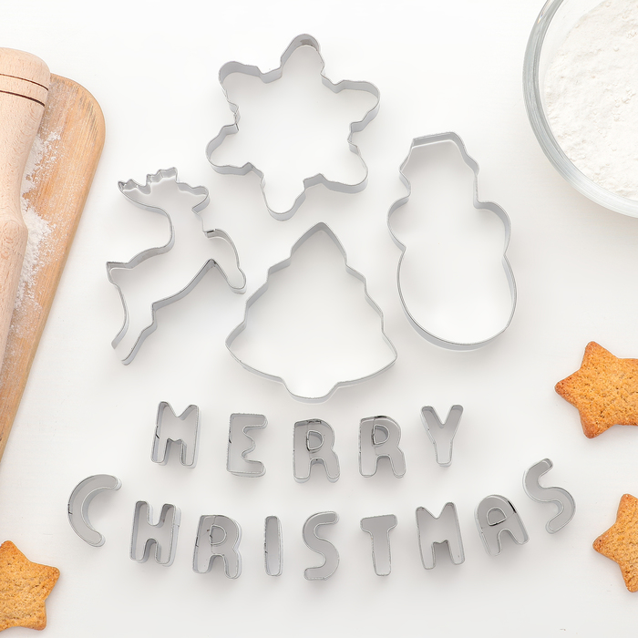 """Набор форм для печенья """"Счастливого Нового года"""", 19 шт"""