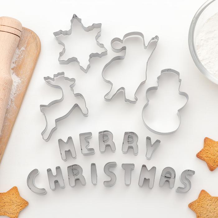 """Набор форм для печенья """"Счастливого Нового года"""", 19 шт, формы МИКС"""