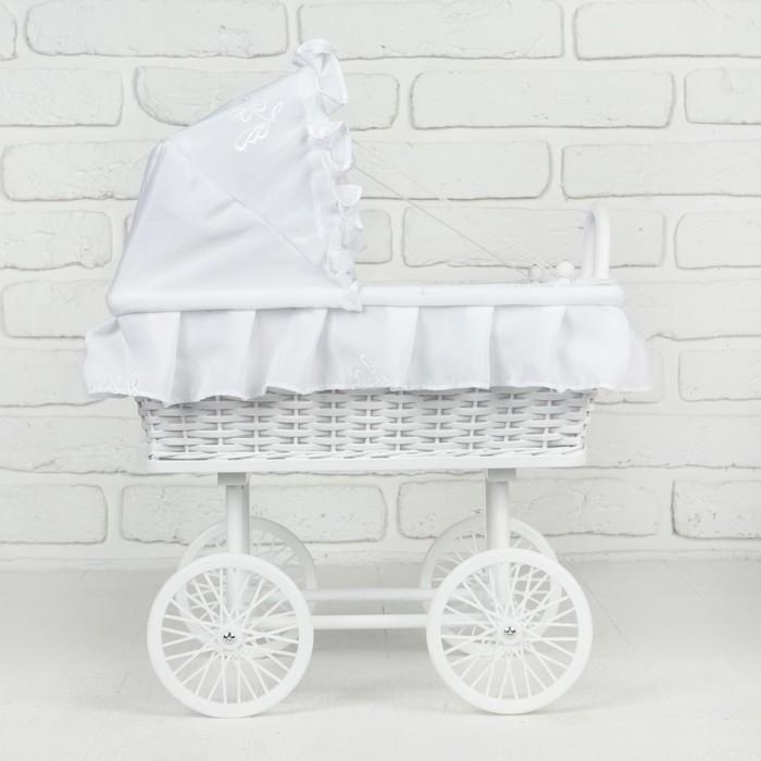 Коляска для кукол «Белая сказка», колёса крутятся