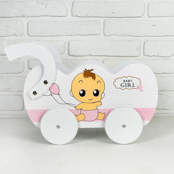 """Коляска для кукол """"Малыш с шариком"""" 44×23×30 см"""